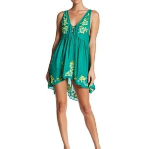 Free people Aida slip mint dress XS